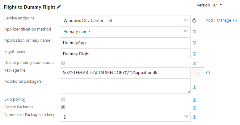 """Screenshot of the UI for the """"Flight"""" task"""